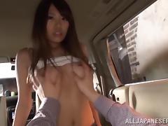 Car, Asian, Babe, Blowjob, Car, Fucking