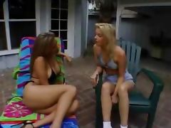 Delicious blonde lesbians masturbating