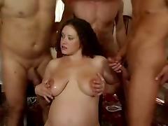 Curly german pregnant gangbang tube porn video