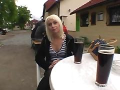 They run off to a restaurant bathroom for a hardcore quickie