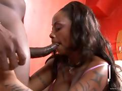 Busty hot ass porn chick Kitten likes big black cock for a fuck tube porn video