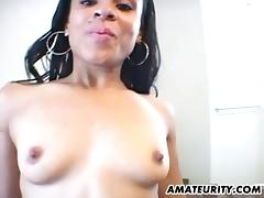 Cock stroking is clearly a skill of hers as she makes him cum