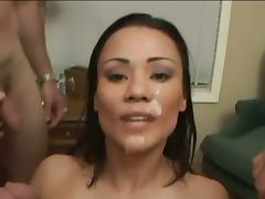 The hottest asian in porn swallows loads short BB
