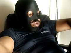 Thick Black Oily Cock the jerk off show (no cum) porn tube video