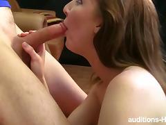 Blonde and brunette sluts share a hard cock tube porn video