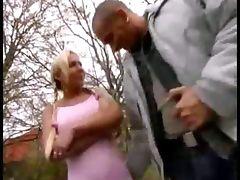 Cute blonde fucking her ass