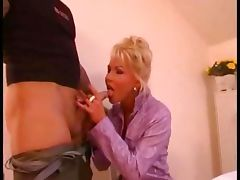 Delicious blonde fucking hard