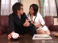 Sex with a puffy nipples Japanese girl is deeply satisfying