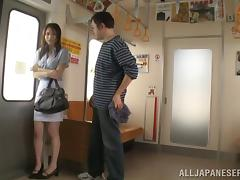Amazing blowjob in public by a stunning Asian chick