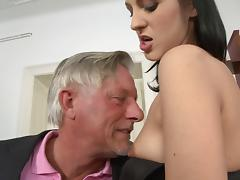 Sexy and lovely porn brunette hotties treats cock a hot and nasty blowjob