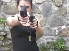 Gangsta bitch Petra intimidates with her foot fetish fantasy