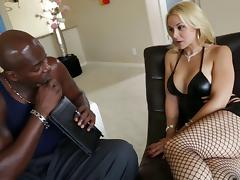 Sarah Vandella interracial anal sex with huge dick dude Lex Steele