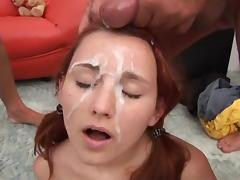 Great first load of bukkake porn tube video