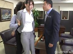 Secretary bent roughly over the desk and fucked with toys porn tube video