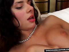 Daddy Slamming StepDaughters Shaved Cunt tube porn video