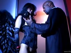 Asian Lucy Lee gets her asshole feasted by black cock in interracial sex porn tube video