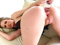 Naughty hot ass solo sweetheart in nasty pussy fingering in masturbation