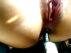 Anal enjoyment in the car