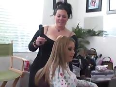 Compilation of randy sluts getting hair and makeup done