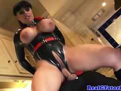 Busty british superhero housewife facialized tube porn video