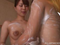 Her skills at soapy Japanese body massage are breathtaking