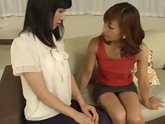 Horny Japanese teen gives her ass to an experienced milf tube porn video