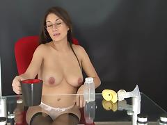 Lactating Secretary - Andrea tube porn video