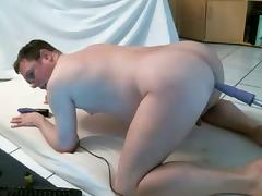 fat gay with sex machine porn tube video