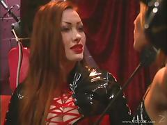 Amazing babes with natural tits getting tortured in bdsm sex