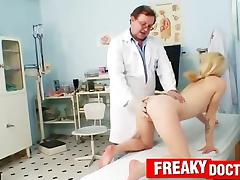 Amateur blonde visits wicked gynecologist tube porn video