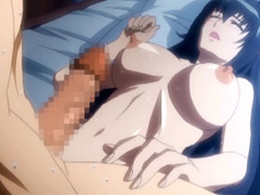 Busty hentai gets tittyfucked and creampie tube porn video