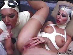 harmony vision latex lesbians in anal fetish porn tube video