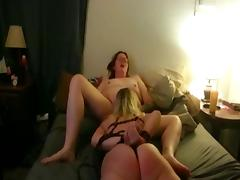 Married women have kinky lesbian sex tube porn video