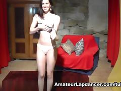 Fresh and charming cutie lapdances tube porn video