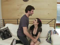 James Deen slams a punker chick in the ass and cums in her mouth tube porn video