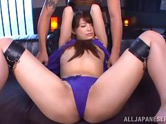 Remarkably beautiful Japanese chick teased and fucked tube porn video