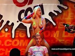 Jenny One strip show in erotic festival tube porn video