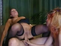 Threesome, Anal, Ffm, Hardcore, Stockings, Threesome