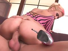 Foxy blonde in high heels getting her nice ass screwed hardcore