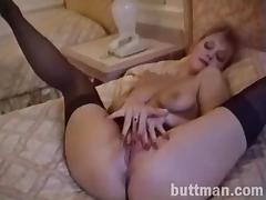 Hot and horny solo porn chick plays with pussy in nasty masturbation