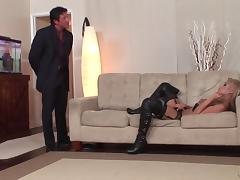 Blindfolded, Big Tits, Blindfolded, Blowjob, Boots, Close Up