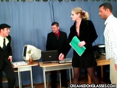 Office, Anal, Banging, Blonde, Blowjob, Close Up