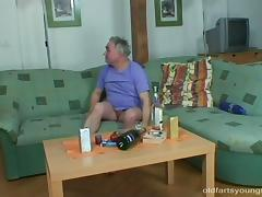 His cleaning lady gives up her pussy as an extra service