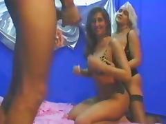 MFF erotic threesome in kinky bedroom scene tube porn video