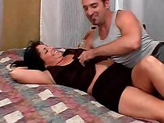 Captivating cougar in short riding massive dick hardcore in retro shoot