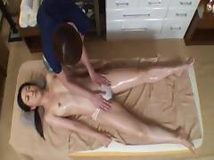 Spycam Woman used by lesbian masseuse