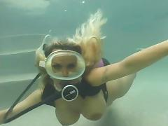 Blonde, Blonde, Fucking, Outdoor, Pool, Underwater