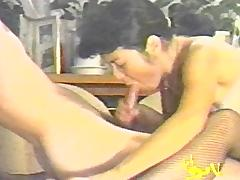 A guy plows his old lady in the ass in a wild home video