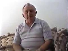 Silver stocky grandpa masturbate tube porn video