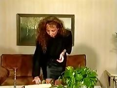 Classic german scene with a beautiful hairy lady